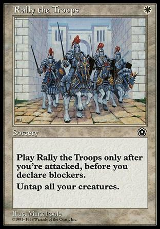 Magic the Gathering Portal 2 019 Rally the Troops - Incomum - Branco - Card em Inglês