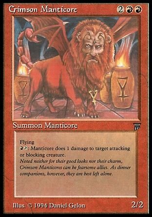 Mantícora Escarlate / Crimson Manticore