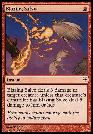 Salva Flamejante / Blazing Salvo