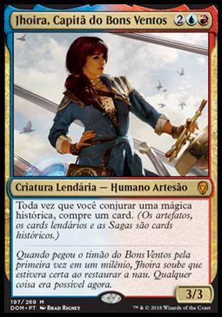 Jhoira, Capitã do Bons Ventos / Jhoira, Weatherlight Captain