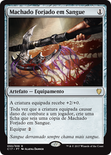 Machado Forjado em Sangue / Bloodforged Battle-axe